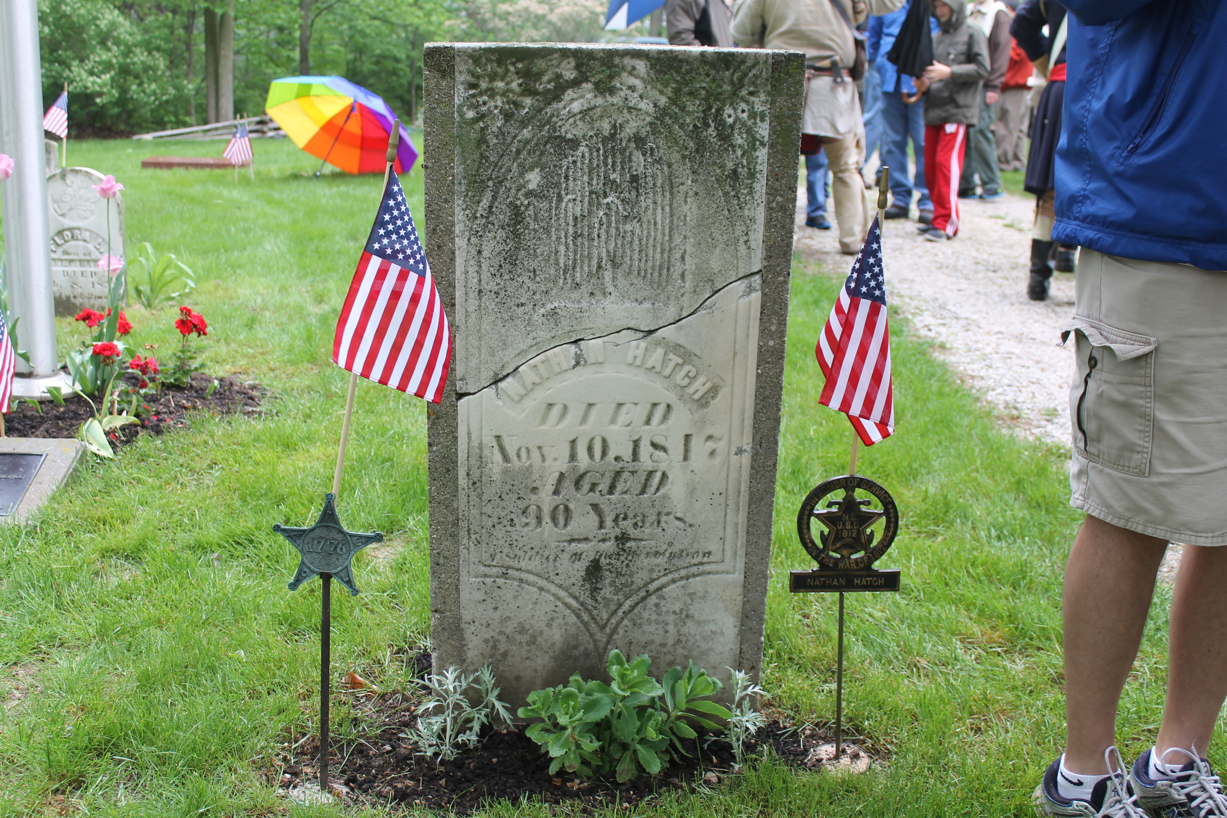 Nathan Hatch, Revolutionary War Hero ceremony